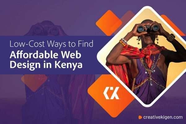 affordable web design in kenya