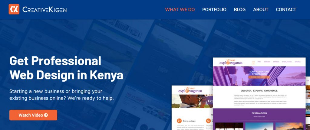 website cost in kenya