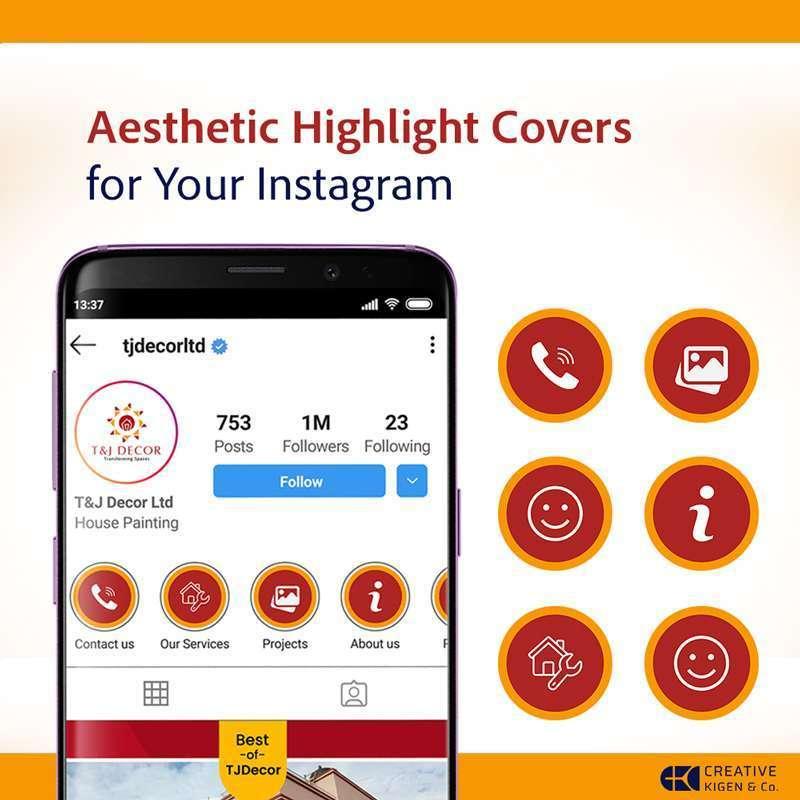 Instagram Highlight Cover Design in Kenya