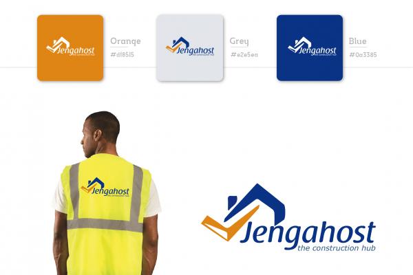 Construction Logo design in Kenya for Jenga Host