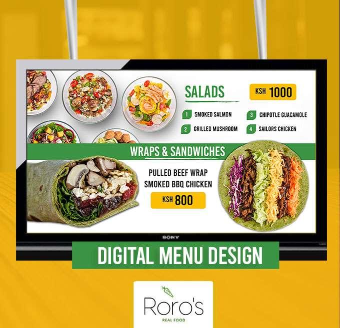Digital Menu Design Services in Kenya