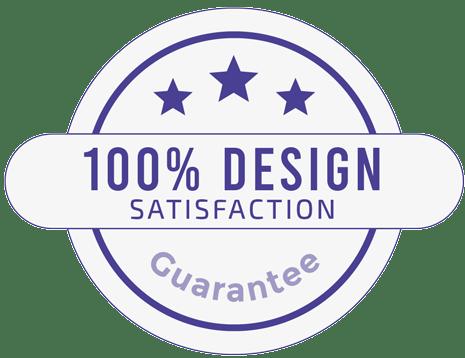 100% design satisfaction guarantee