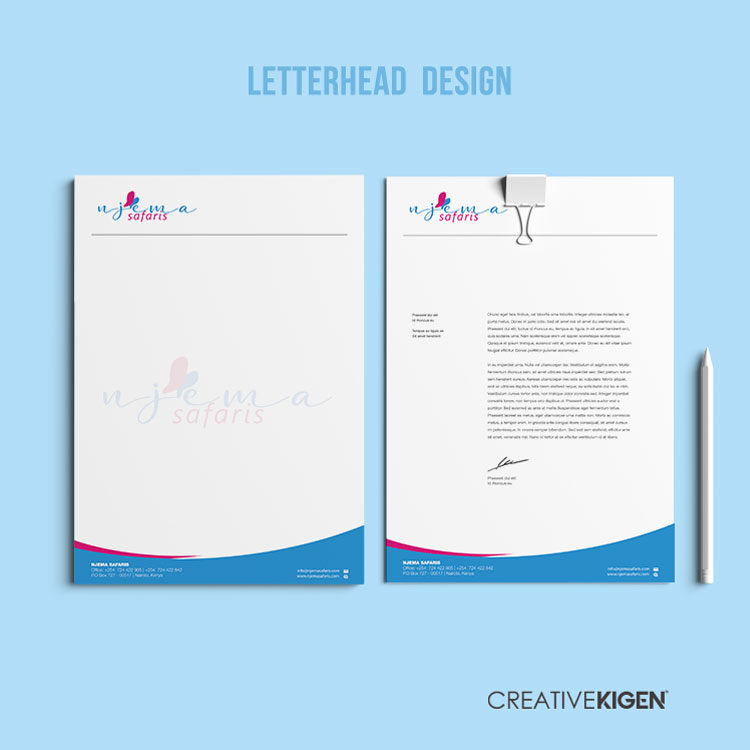 Letterhead Design Services in Kenya
